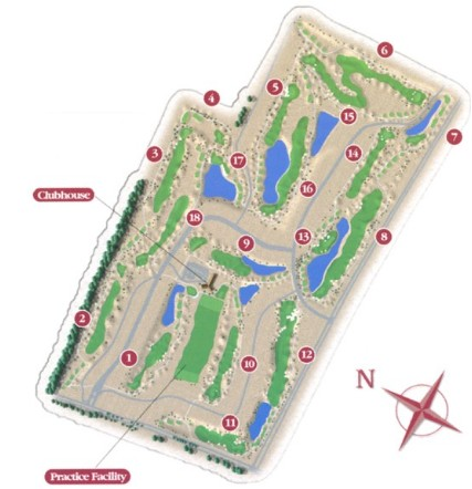 PGA West Greg Norman Layout